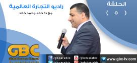 الحلقة الخامسة من برنامج راديو التجارة الالكترونية بقناة التجارة العالمية GBC للدكتور خالد محمد خالد