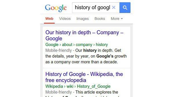 جوجل تبدل عناوين المواقع URL في نتائج البحث عبر المحمول